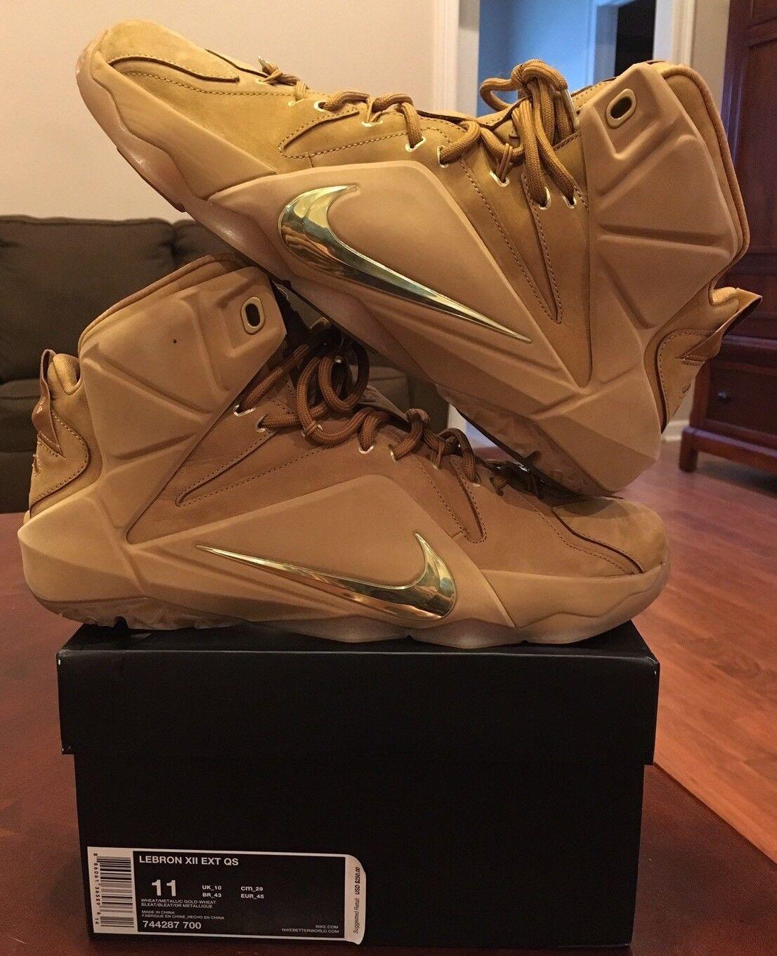 Nike Lebron 12 XII Wheat Air Zoom Tan Soldier What The BHM Allstar Lot Jordan 1