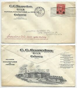 Advertising-Cover-C-C-SNOWDON-OILS-Calgary-Alberta-Circa-1932