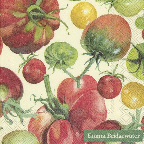 Emma Bridgewater TOMATOES cocktail tea napkins 20 pack 25cm square 3ply