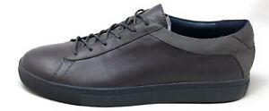 Zanzara-Uomo-Pasini-Moda-Sneaker-Scarpe-pelle-Grigia-Misura-10-5-M-USA