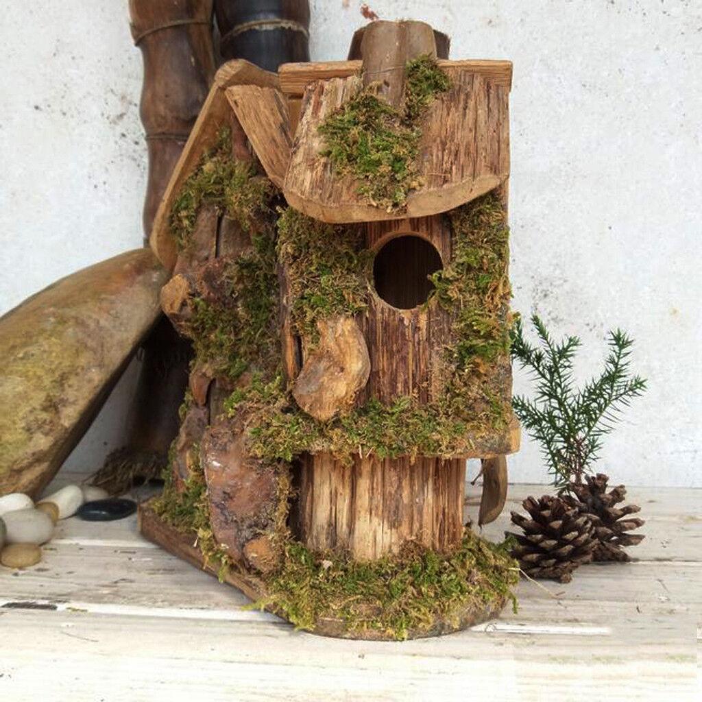 Legno bird hotel casa da appendere scatola di nidificazione Stazione Bird Piccola Casa Alimentatore