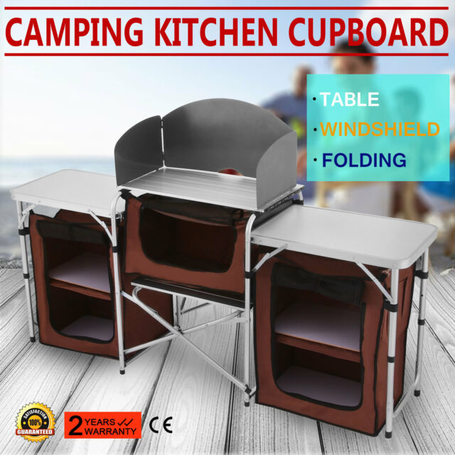 Camping Kitchen Table Cooking Working Dining Picnic Desk Hiking Outdoor Rv