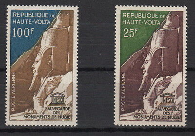 Stamps Art Haute Alto Volta 2 Valori 1964 Salvaguardia Monumenti Numibia Yvert A12-3 Mnh** To Win A High Admiration
