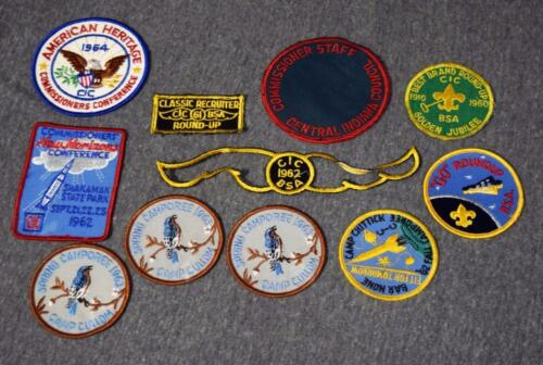 1960's CIC Central Indiana Council Boy Scouts BSA Patches x11
