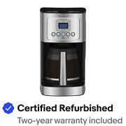 Cuisinart DCC-3200FR Perfectemp Coffee Maker, 14 Cup Steel Certified Refurbished