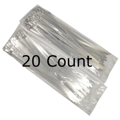 14 QTY 20 Stainless Steel Wire Zip Ties Industrial Strength Self Locking Band