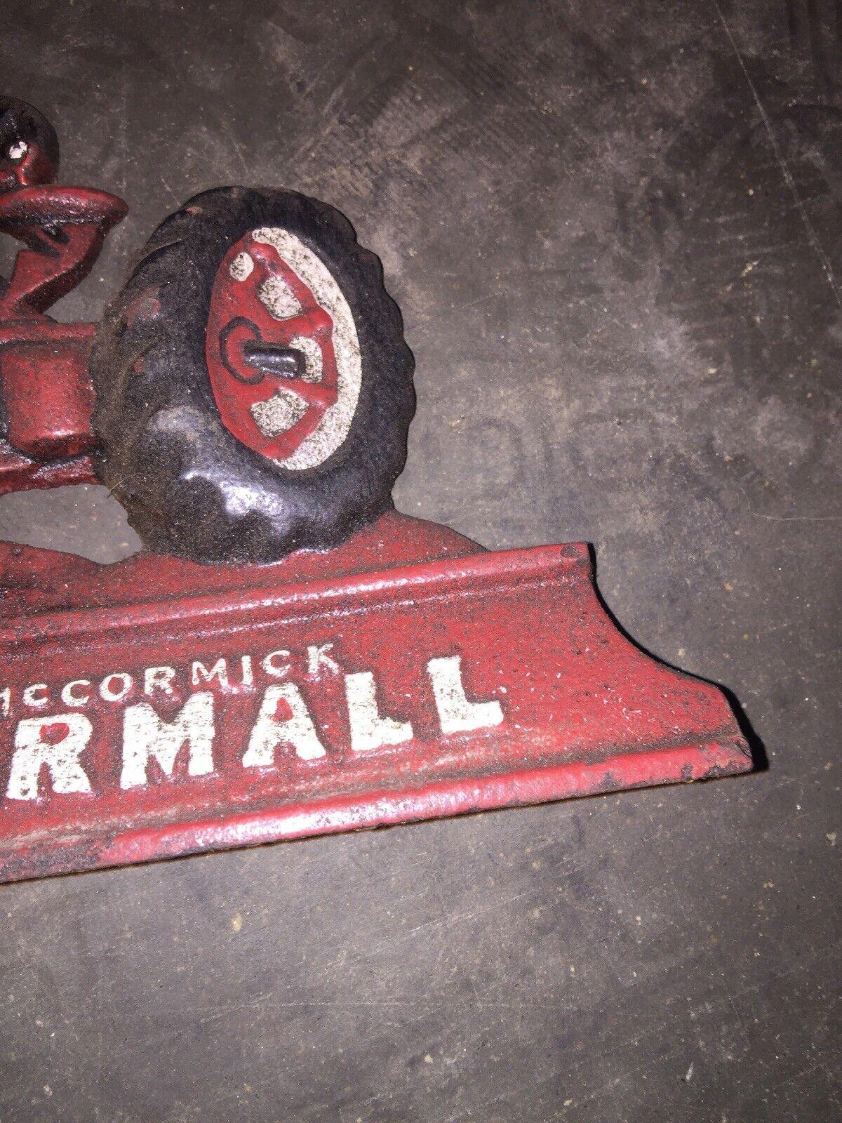 Farmall IH McCormick International Tractor Door Stop Cast Iron Solid Metal 3LBS!