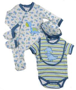 57d83a035879 Baby Boy Clothes 5 Piece Gift set layette Watch Me Grow 0-3m 3-6m 6 ...
