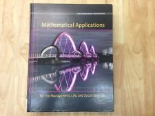 Mathematical Applications for the Management, Life, and Social Sciences by James J. Reynolds and Ronald J. Harshbarger (2015, Hardcover)