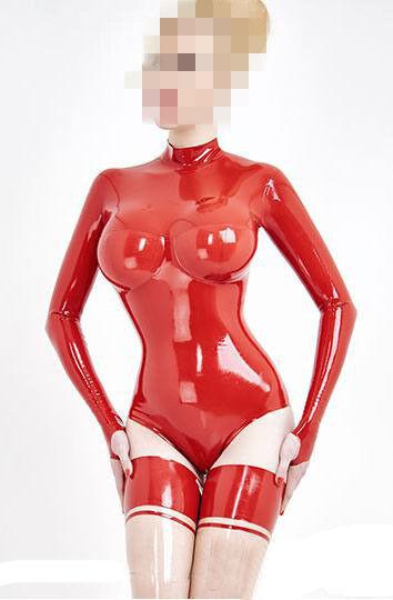 Latex Catsuit Women Rubber Swimsuit 3D Breast Women Sexy Latx Swimsuit
