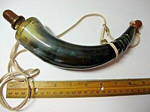 Early American Frontier Style Powder Horn, Mountain Man.(read description)