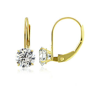 14K-Yellow-Gold-1-00-CTTW-Cubic-Zirconia-Round-Leverback-Earring-5mm