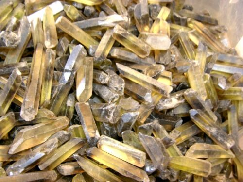 Citrine terminated crystals with phantoms Brazil 100 carat lot 4 plus crystals