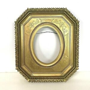 Vintage-Decorative-Gold-Frame-for-Oval-Picture-or-Painting
