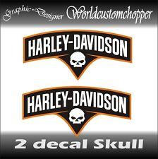 2 DECAL ADESIVI STICKERS DA SERBATOIO HARLEY DAVIDSON MOTO CUSTOM CHOPPER