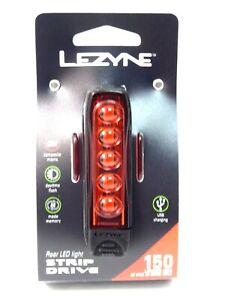 Lezyne STRIP DRIVE REAR 150 lumen LED Bicycle Bike Tail Light BLACK