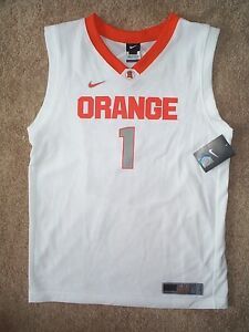 60 Nike Syracuse Orange 1 Ncaa Basketball Jersey Youth Kids Boys