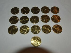 16-Coin-Set-Brass-Slammer-MLB-1992-Sports-Stars-Collectors-Coins-Doc-Gooden