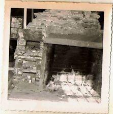 Vintage Antique Photograph Old Time Antique Fireplace Fire Pit