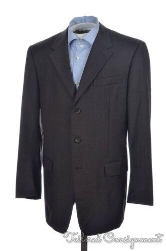 PRADA Solid Brown 100% Wool Mens Blazer Sport Coat