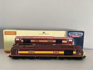 Hornby OO Gauge R2899XS Class 60 No 60042 Hundred Of Hoo EWS Livery DCC Sound