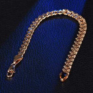 dd2d68feac9 8mm Wrist Chain Gold Filled Stainless Steel Heavy Dugy Women Men ...