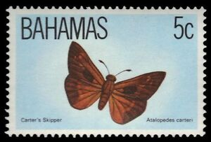 "BAHAMAS 539 (SG653) - Carters Skipper ""Atalopedes carteri"" (pa51414)"