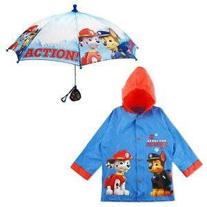 Nickelodeon-Paw-Patrol-impermeables-y-paraguas-Rainwear-conjunto-los-ninos-2-7-anos
