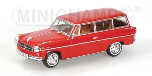 Borgward isabella break 1958 red 1 43 minichamps model