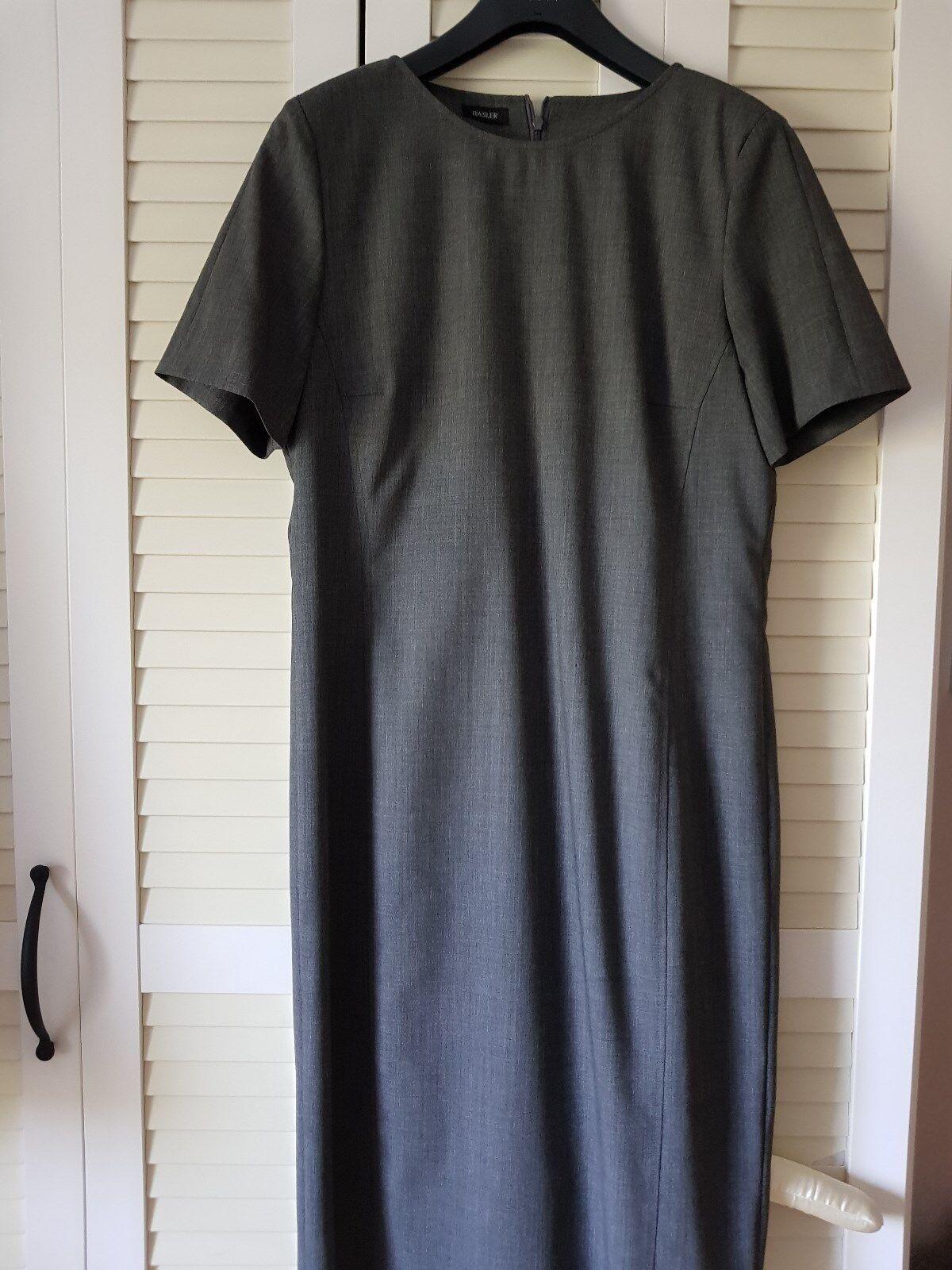 Etui Kleid von Basler Grau Edel Business Wolle Gr.38 NEU traumhaft
