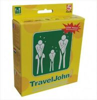 Traveljohn Disposable 5 Pack Vomit/urine Bag For Children And Adults,
