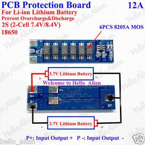 2s 7 4v 8 4v 12a Bms Protection Pcb Board For 18650 Li Ion
