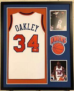 6aae905ef Image is loading Charles-Oakley-Autographed-Custom-Framed-New-York-Knicks-