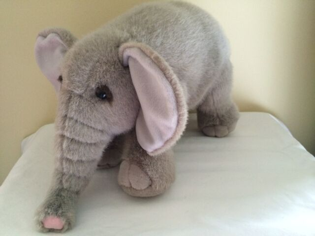 Dakin Ellie Elephant Stuffed Animal Toy Gray Eye Lashes Item 24536