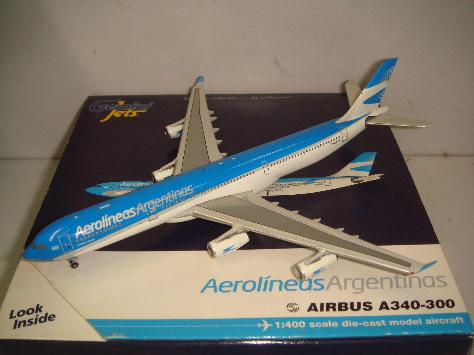 Gemini jets 400 aerolineas Silberinas a340 - 300
