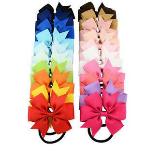 40pcs 2.75in Grosgrain Ribbon Hair Bows Headbands for Baby Girls Infants Toddler