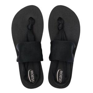 Oxbow-NEW-Women-039-s-Verdot-Flip-Flops-Black-BNWT