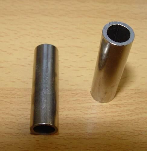 2 x Achsrohr 62 x 20 x 12,2mm Reduzierhülse Distanzrohr