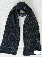 NEW! 145$ Portolano 100% Cashmere Black Knit Scarf
