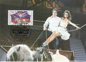 Ballerina auf dem Pferd Zirkus Maxik. BRD 1989 - Bad Krozingen, Deutschland - Ballerina auf dem Pferd Zirkus Maxik. BRD 1989 - Bad Krozingen, Deutschland