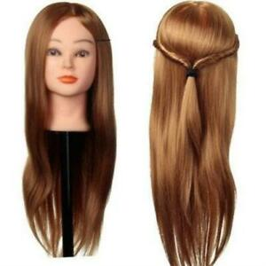 30% Real Human Hair Training Head Cutting Braiding Practice Mannequin Clamp Hold