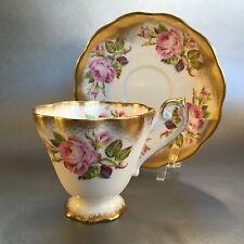 Royal Standard Tea Cup and Saucer English Bone China Heavy Gold Teacup England