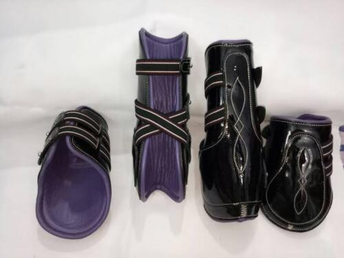 All sizes Black Patent//purple leather lining Pinnacle Tendon/&Fetlock Boots
