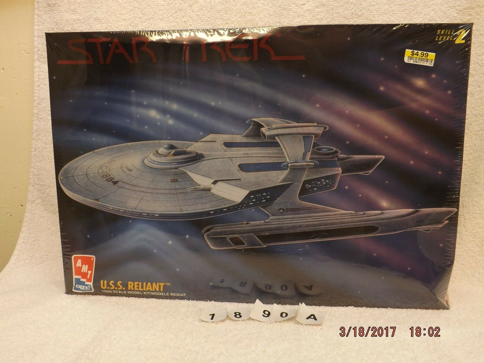 Star Trek The Wrath of Khan USS Reliant AMT ERTL 1995 MIB