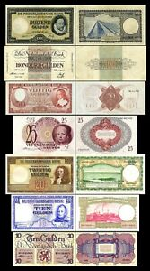 2x  10 - 1000 Gulden - Edition 07.05.1945 - Reproduction - NL 07