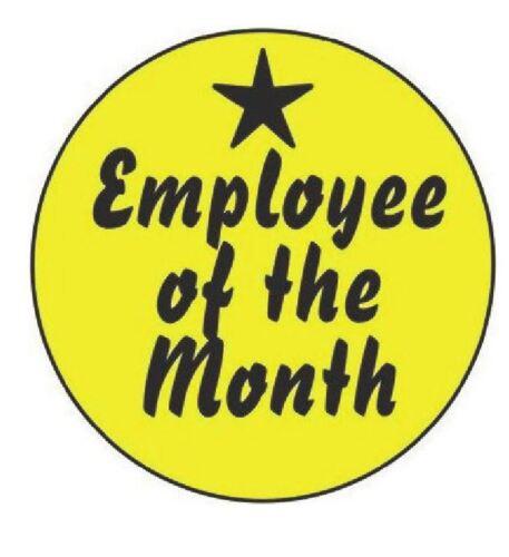 Employee Of The Month Hard Hat Decal Hardhat Sticker Helmet Label H242