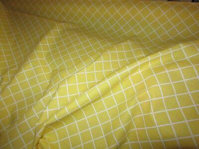 tissu Laura Ashley 100/% coton  Losanges jaune et blanc 120 cm de large au mètre