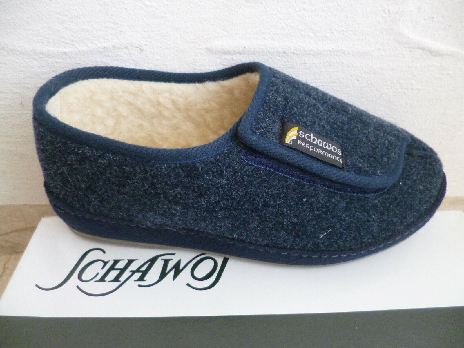 Schawos Mens Slippers House Shoe Slippers Blue New
