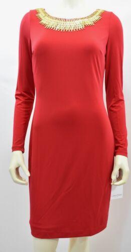 Calvin Etichetta 4 Klein Decorato Nuovi Fodero Con Vestito 4q14x8r