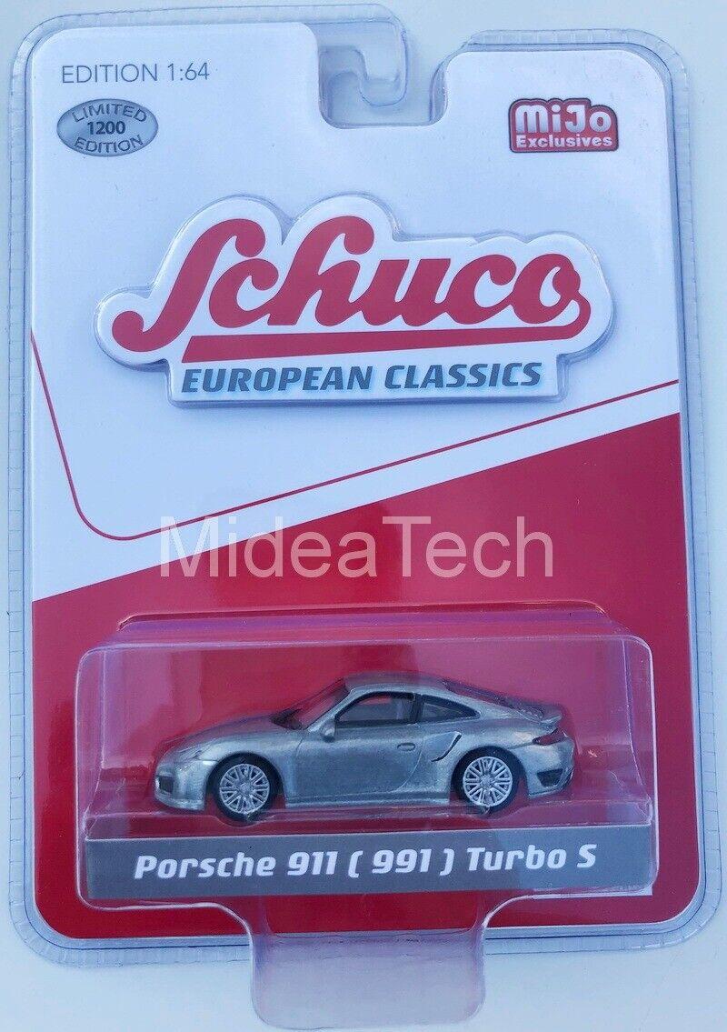 Schuco 9000 European Classics 1/64 Porsche 911 (991) Turbo S Raw Metal Chase Car